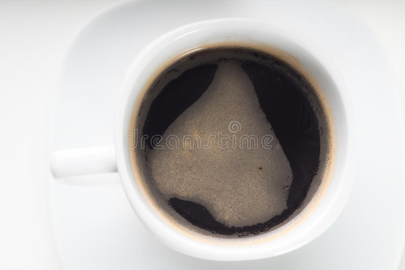 Coffee cup on a white background stock photography