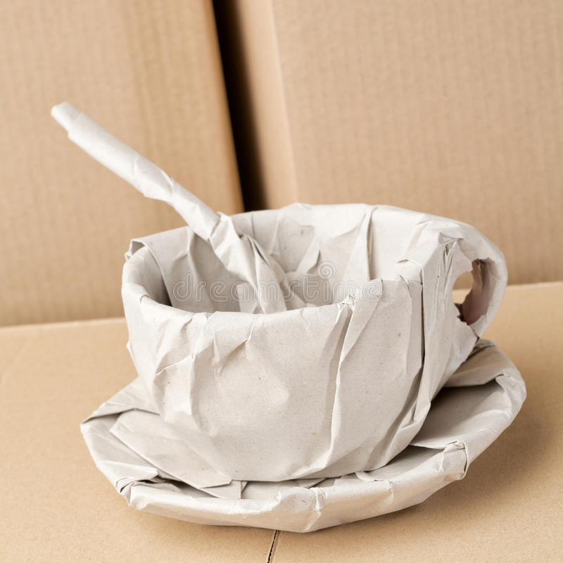 Coffee Cup Wrapped in Paper royalty free stock image