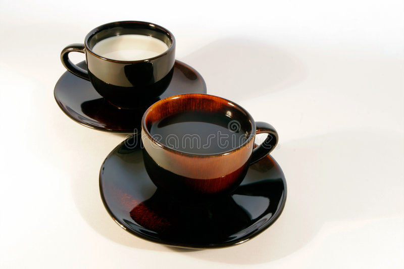 Coffee cups 1 royalty free stock photos