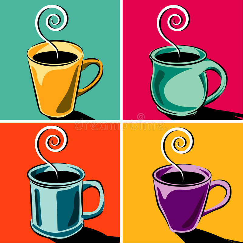Download Coffee Cups stock vector. Illustration of vector, colors - 5446590