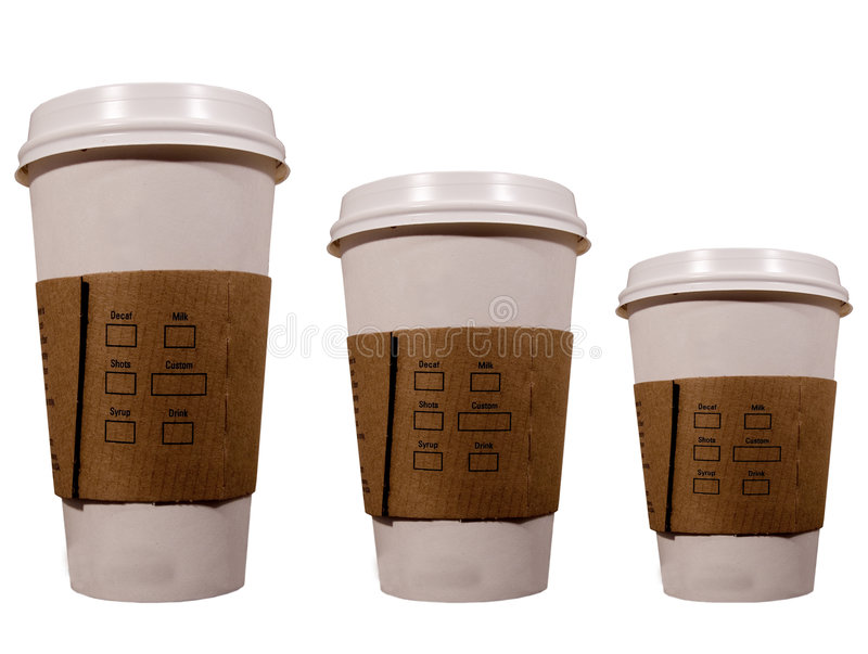 Download Coffee cups stock image. Image of away, cover, isolated - 634595