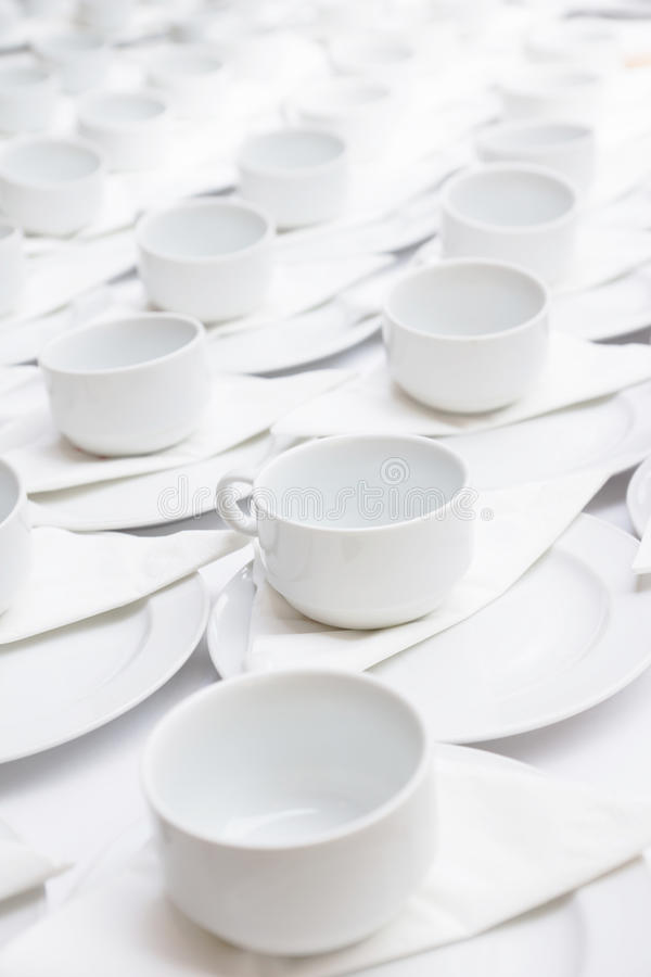 Coffee cups. Group of white coffee cups stock image