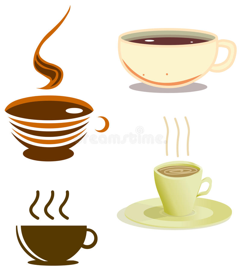 Coffee Cups Pack Royalty Free Stock Images