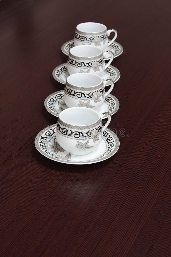 Download Coffee Cups Stand On A Table Stock Image - Image: 12076963
