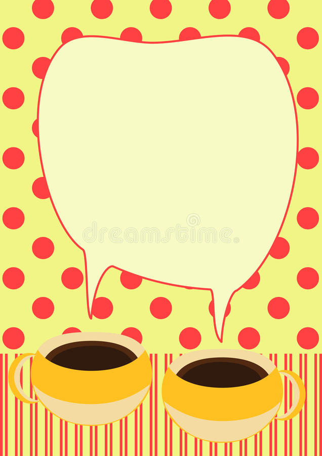 Download Coffee Cups Talking Invitation Card Royalty Free Stock Photography - Image: 25358877