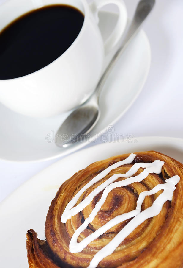 Download Coffee and danish pastry stock photo. Image of plate - 39784492