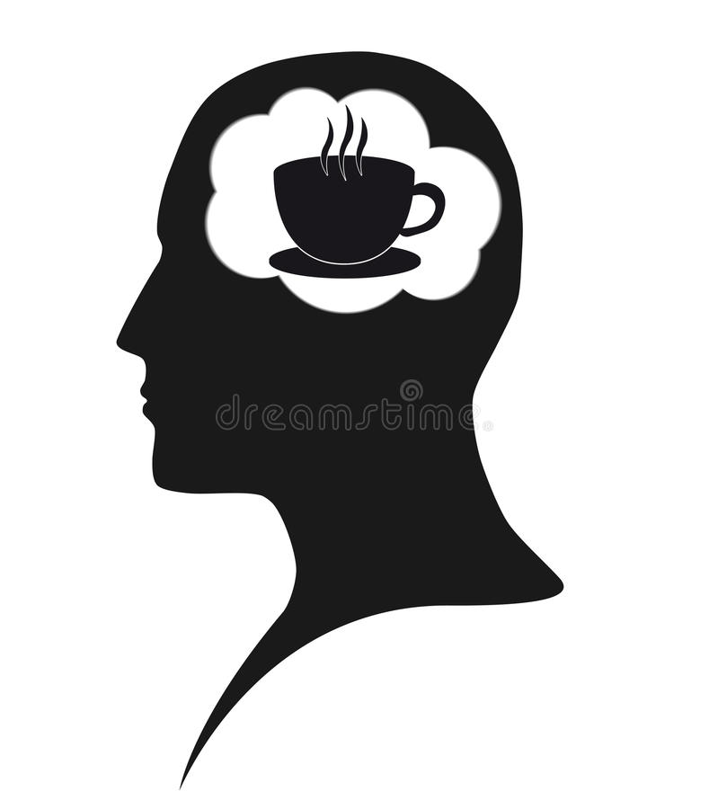 Coffee dependence stock image