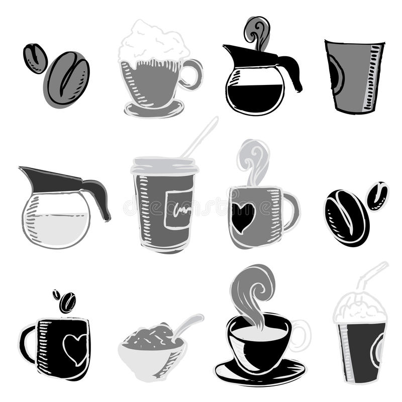 Download Coffee design elements stock vector. Image of isolated - 14921321