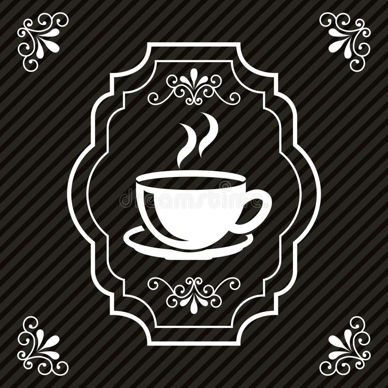 Coffee design. Over black background, vector illustration vector illustration