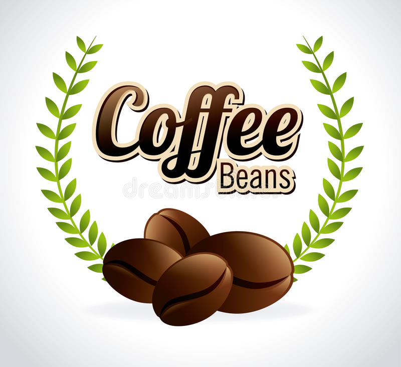 Coffee design. Over white background, vector illustration stock illustration