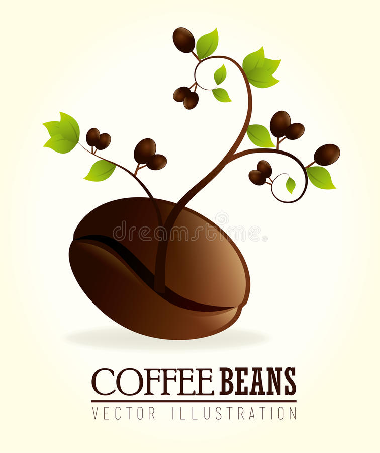 Coffee design. Over white background, vector illustration royalty free illustration
