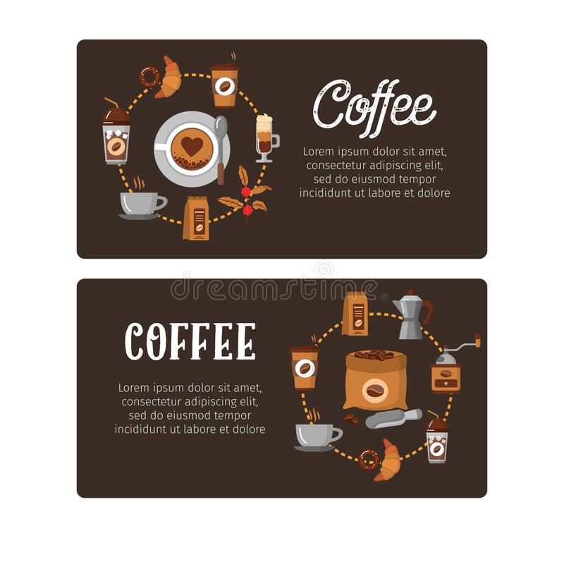 Coffee Design Templates. Vector Banners. Stock Vector - Illustration ...