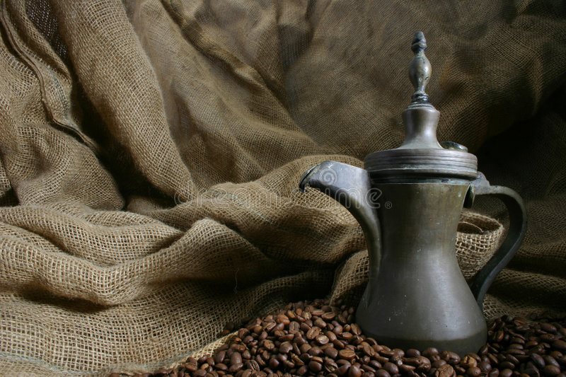 Coffee designed 5. Food designed with coffeepot, and coffee beans royalty free stock image