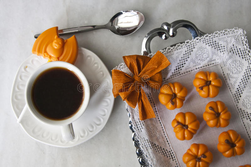 Coffee and desserts stock images