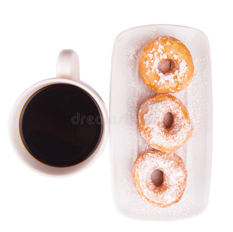 Coffee And Doughnut V stock photography