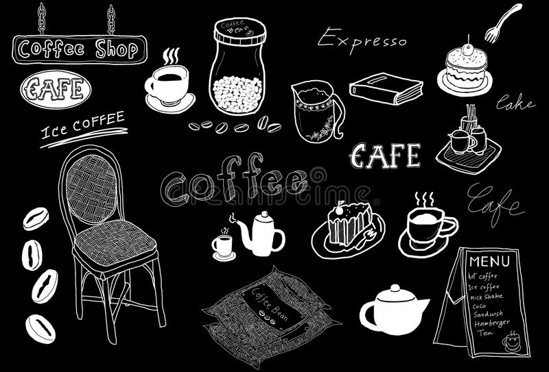 Download Coffee drawing sketch stock illustration. Image of material - 14380213