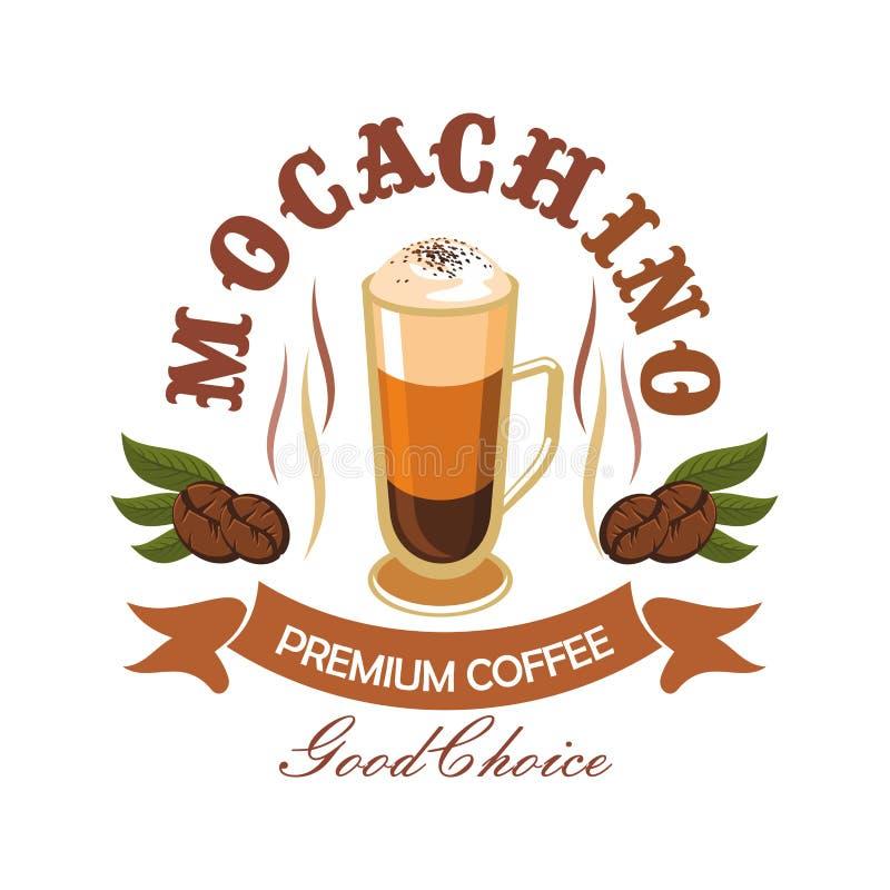 Coffee drink badge for cafe design stock illustration