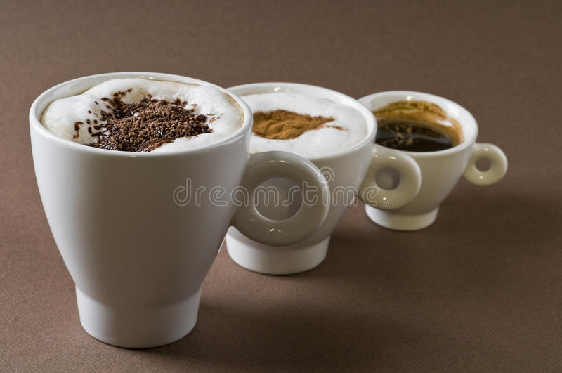Coffee drinks objects royalty free stock photos