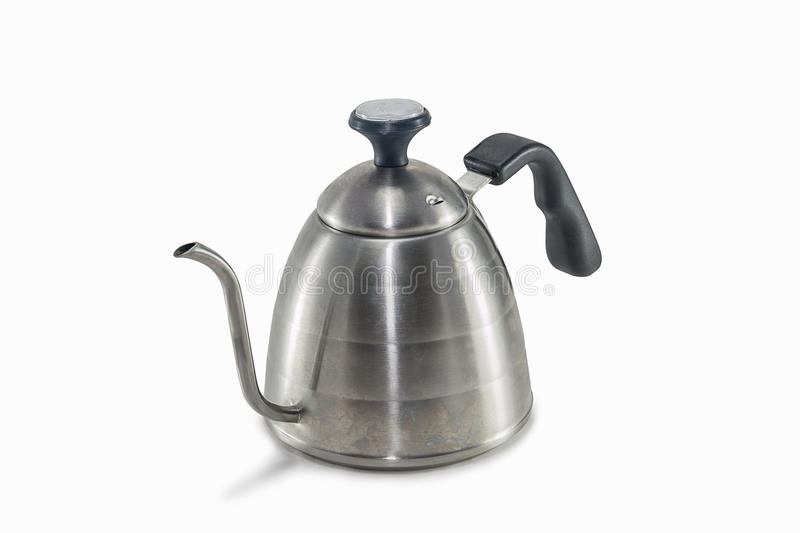 Coffee drip kettle. On white background isolated stock images