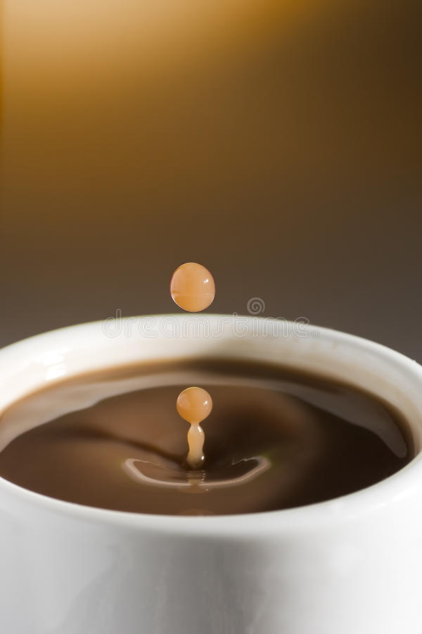 Download Coffee Drop Going Out Of The Cup Stock Photo - Image: 21861636