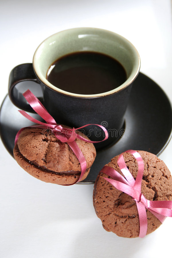 Download Coffee Espresso And Cookie Treat Royalty Free Stock Image - Image: 619726
