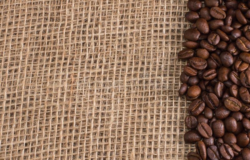 Coffee on fabric background stock photo