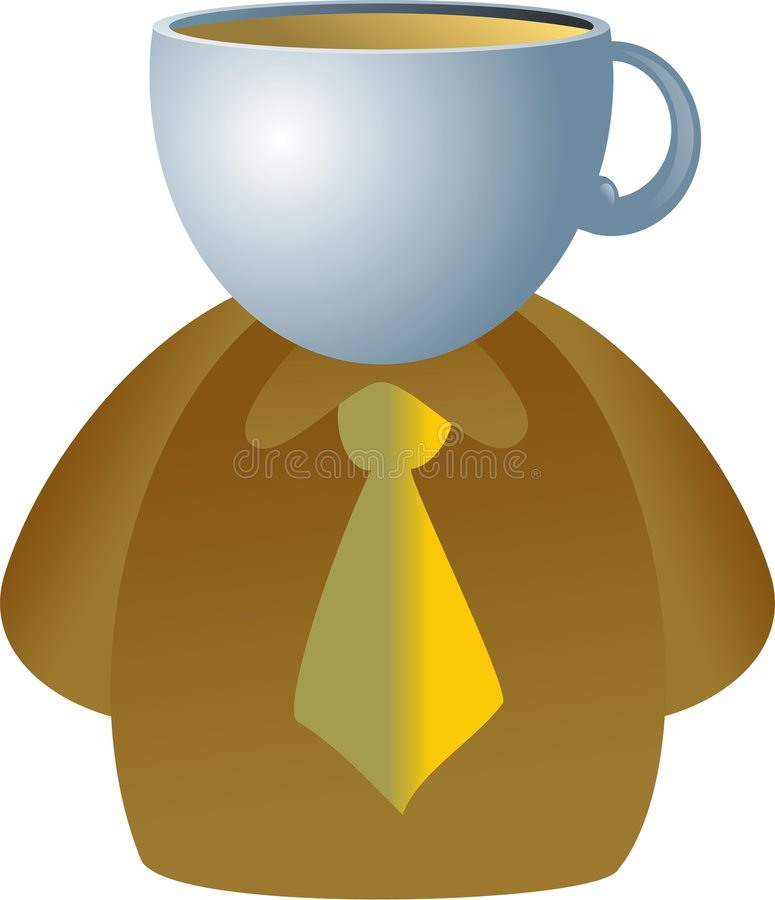 Coffee face royalty free illustration