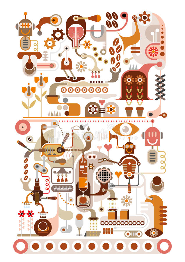 Download Coffee Factory - Vector Illustration Stock Vector - Image: 29077039