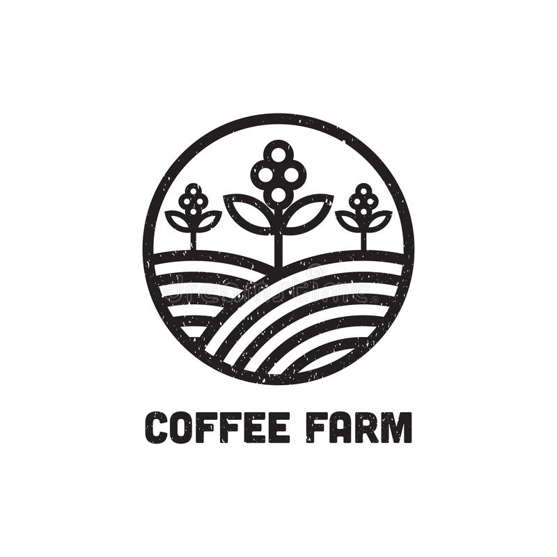 Coffee Farm Logo Design Inspiration, can used cafe and bar logo template stock illustration