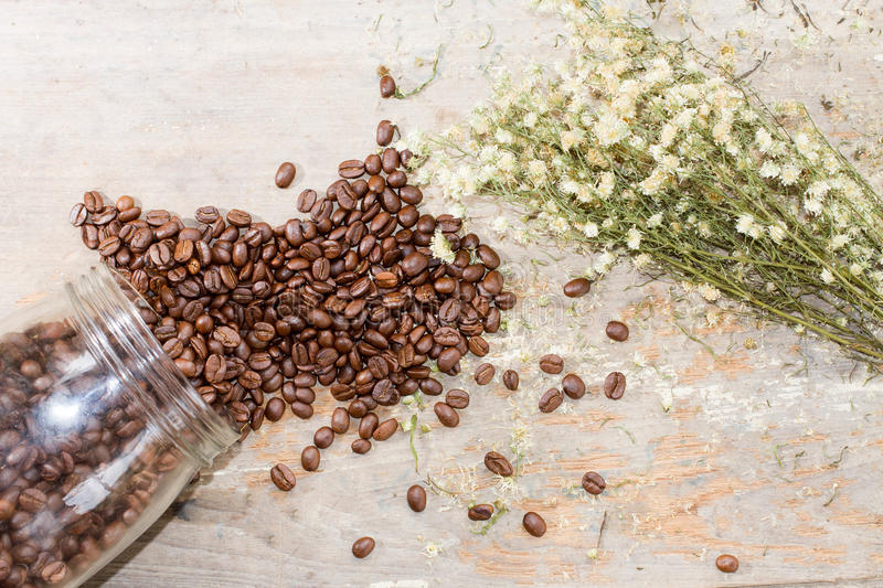 Coffee and flower royalty free stock photography