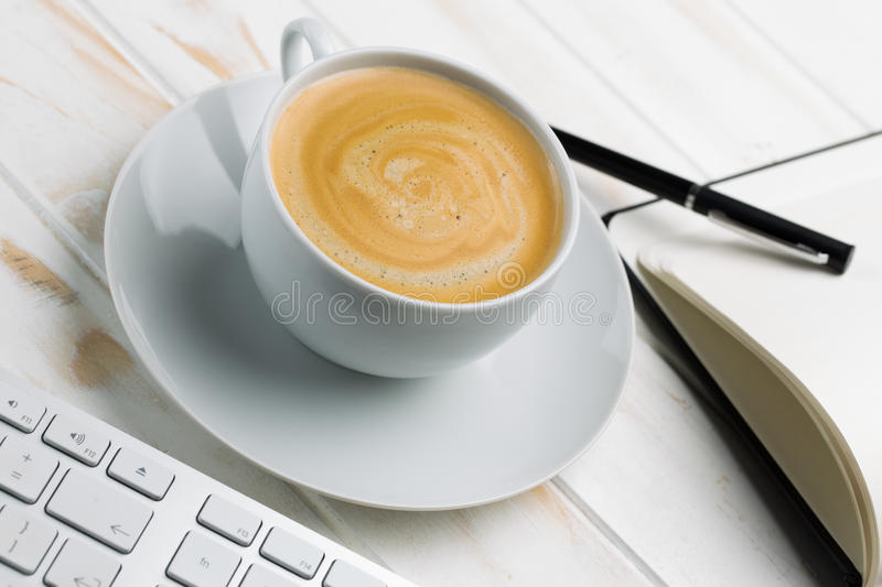 Coffee with foam stock image