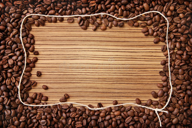 Coffee frame royalty free stock image