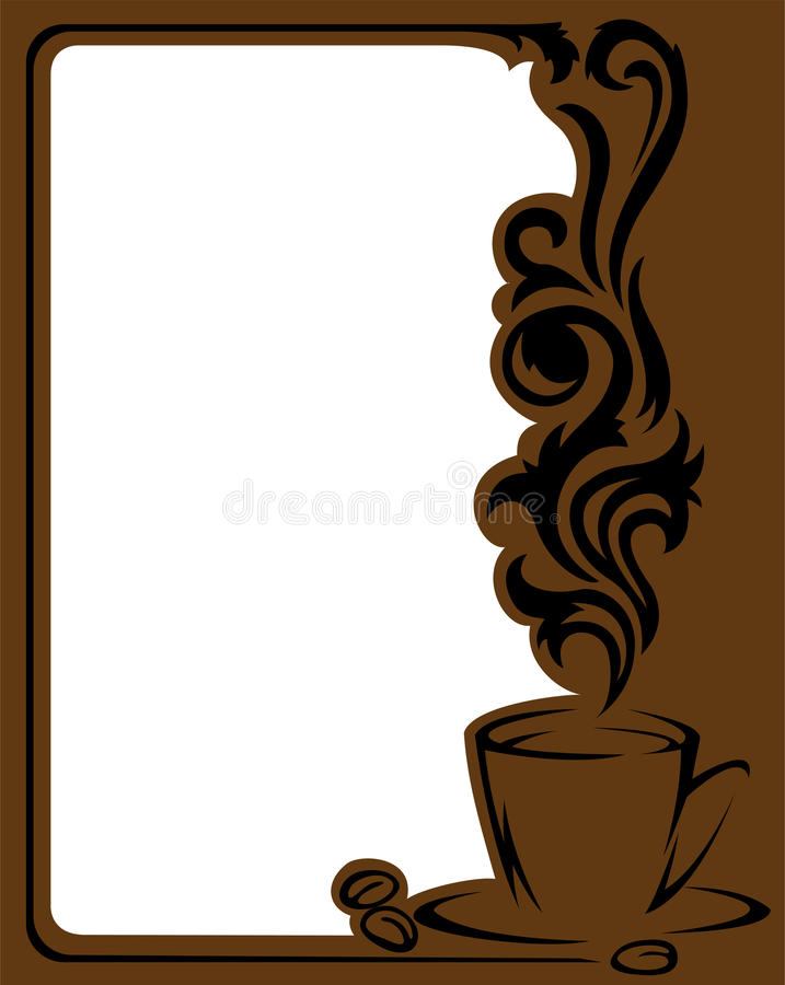 Download Coffee frame stock vector. Image of heat, arabica, illustration - 20106015