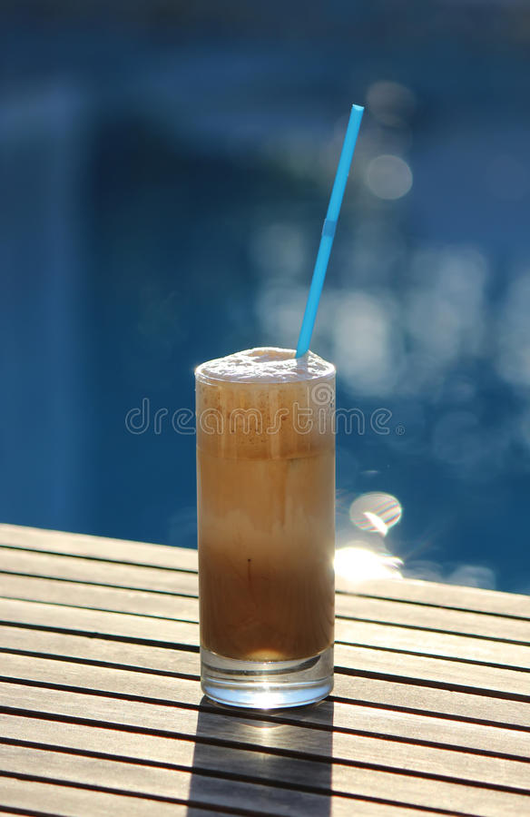 Coffee frappe stock images