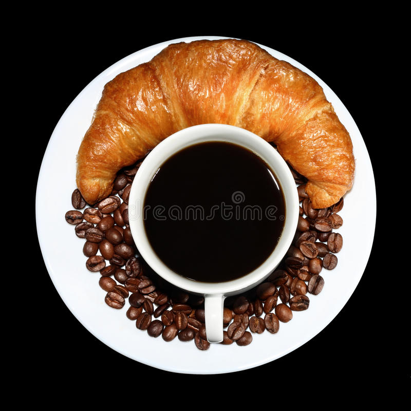 Coffee And French Roll Royalty Free Stock Images