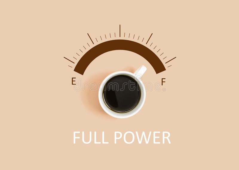 Coffee full power concept royalty free stock photo