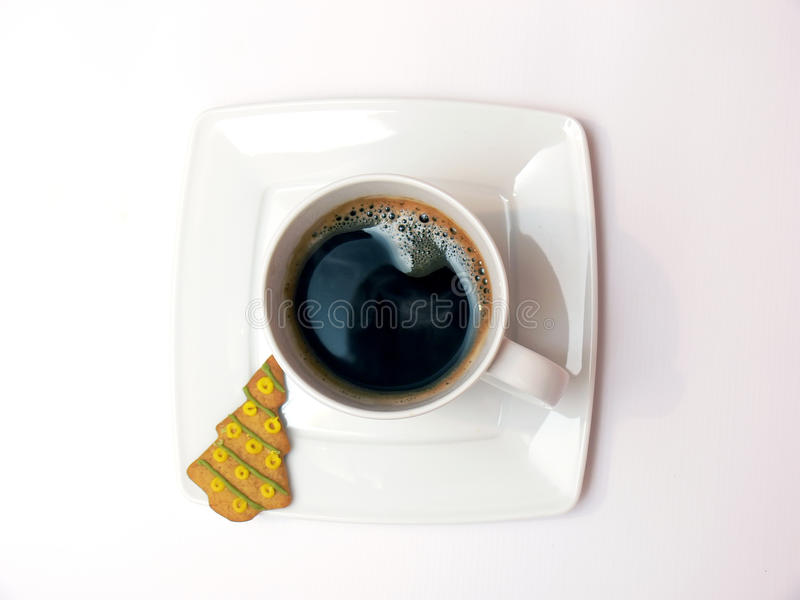 Download Coffee with ginger cake stock image. Image of close, cofee - 12189917