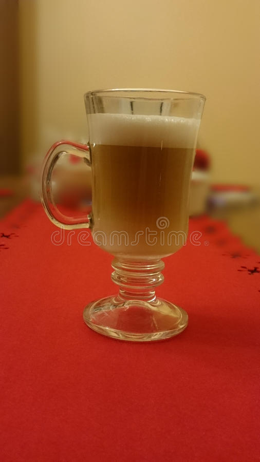Coffee in glass cup royalty free stock photos