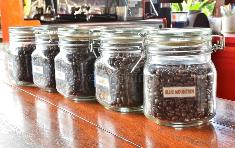 Download Coffee Grain In The Bottles Stock Image - Image: 25356577
