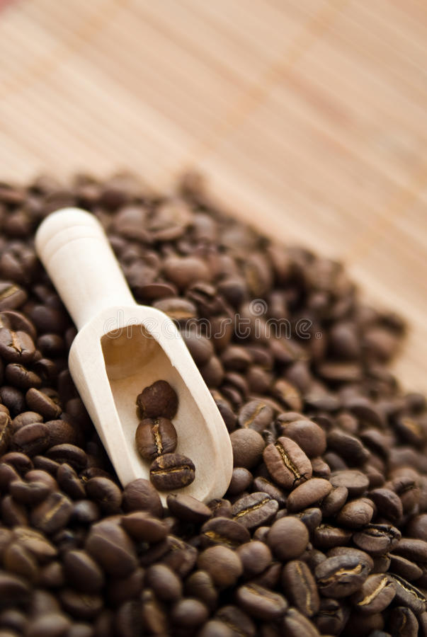 Download Coffee grains stock image. Image of life, scoop, close - 12588235