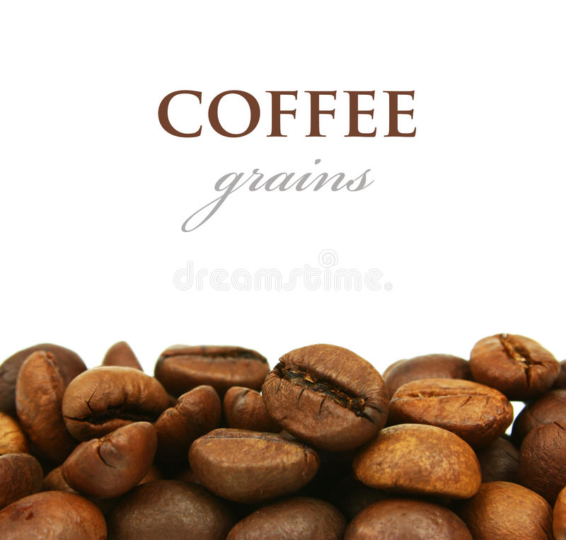 Download Coffee Grains Close Up Isolated Stock Photo - Image: 20781070
