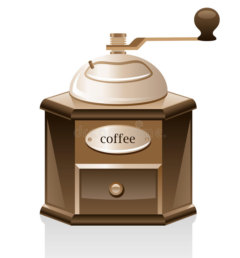 Download Coffee grinder. stock vector. Image of coffee, brown - 18609094