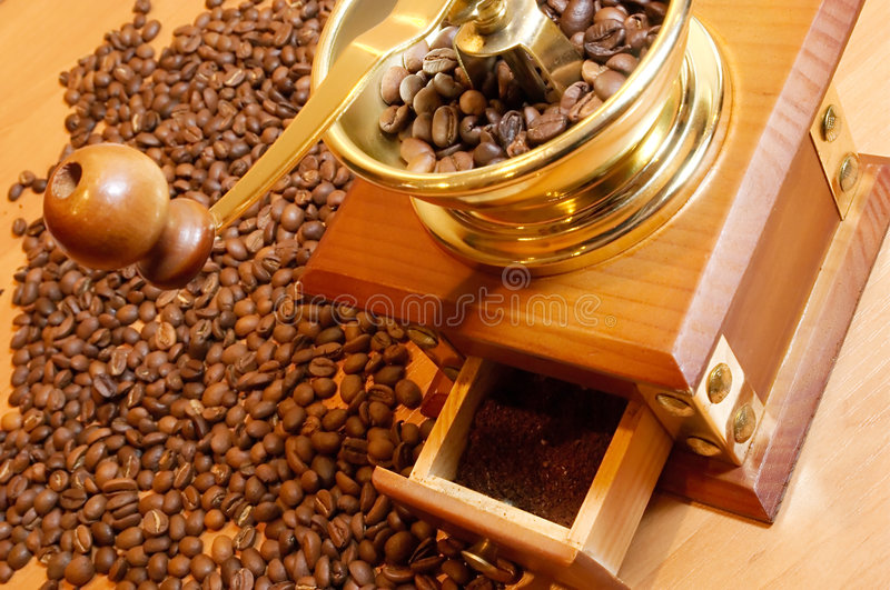 Download Coffee-grinder stock photo. Image of antique, black, latte - 2304410
