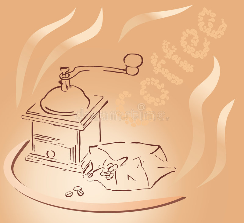 Download Coffee grinder stock vector. Image of coffee, breakfast - 6787545