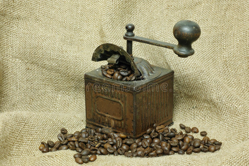 Download Coffee Grinder And Coffee In Grains Stock Photo - Image: 83701534