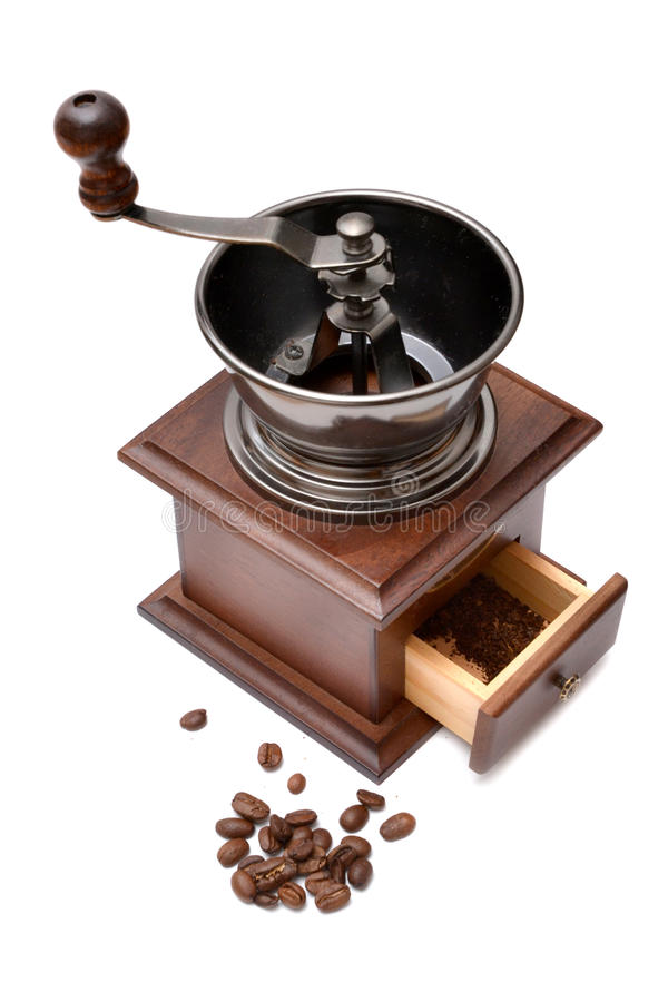 Download Coffee Grinder On A White Background Royalty Free Stock Images - Image: 23150399