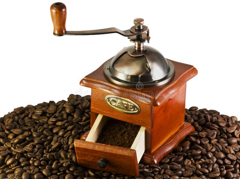 Download Coffee Grinders To Coffee Beans Stock Image - Image of beans, grinder: 10136551