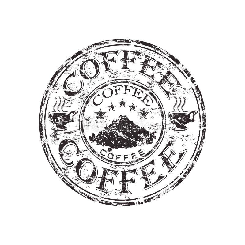 Coffee grunge rubber stamp vector illustration