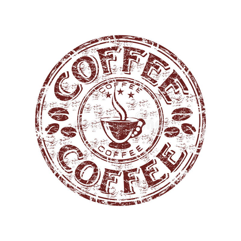 Free Coffee Grunge Rubber Stamp Royalty Free Stock Images - 11983649