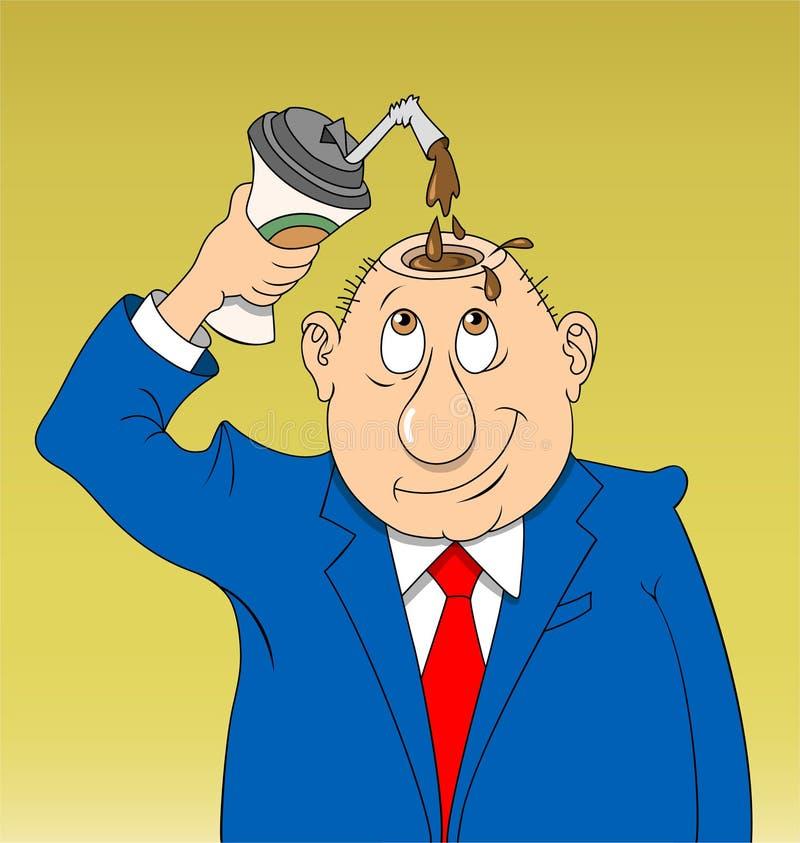 Download Coffee Guy stock vector. Image of decaffeinated, humor - 21802835
